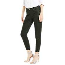 Buy Oasis Coated Isabella Jeans, Khaki Online at johnlewis.com