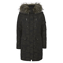 Buy Mint Velvet Camouflage Parka, Green Online at johnlewis.com