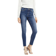 Buy Oasis Lily Ankle Grazer Jeans, Denim Online at johnlewis.com