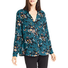 Buy Oasis Anne Marie Frill Shirt, Multi/Green Online at johnlewis.com