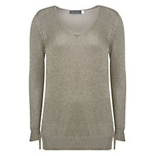 Buy Mint Velvet Metallic Tape Yarn Knit Jumper, Oyster Metallic Online at johnlewis.com