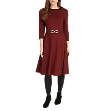 Buy Phase Eight Belted Ponte Swing Dress, Brick Online at johnlewis.com