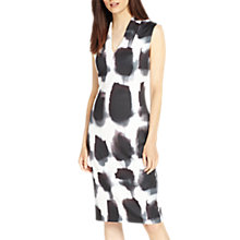 Buy Phase Eight Mildred Graphic Print Dress, Brick/Ivory Online at johnlewis.com