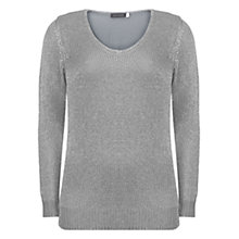 Buy Mint Velvet Metallic Jumper, Silver Online at johnlewis.com