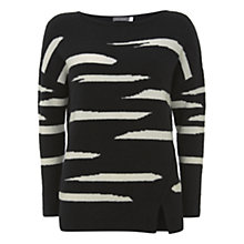 Buy Mint Velvet Irregular Boxy Jumper, Stripe Online at johnlewis.com