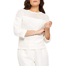 Buy Jaeger Ladder Stitch Jumper, Ivory Online at johnlewis.com