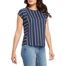 Buy Jaeger Block Stripe Top, Navy Online at johnlewis.com