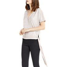 Buy Oasis Chain Crinkle Wrap Top, Pewter Online at johnlewis.com