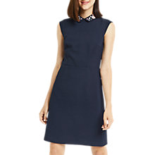 Buy Oasis Floral Collar Dress, Navy Online at johnlewis.com
