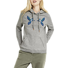 Buy Oasis ZSL Parakeet Hoodie, Pale Grey Online at johnlewis.com