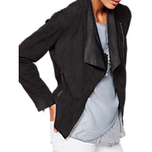 Buy Mint Velvet Suede Double Layer Jacket, Granite Online at johnlewis.com
