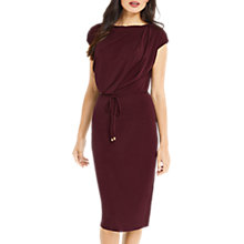 Buy Oasis Soft Drape Dress, Burgundy Online at johnlewis.com