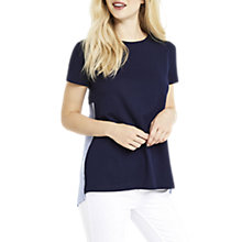 Buy Oasis Stripe Back T-Shirt, Navy/Blue Online at johnlewis.com