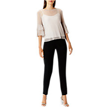 Buy Coast Madrid Trousers, Black Online at johnlewis.com