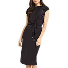 Buy Oasis Soft Drape Dress, Dark Grey Online at johnlewis.com