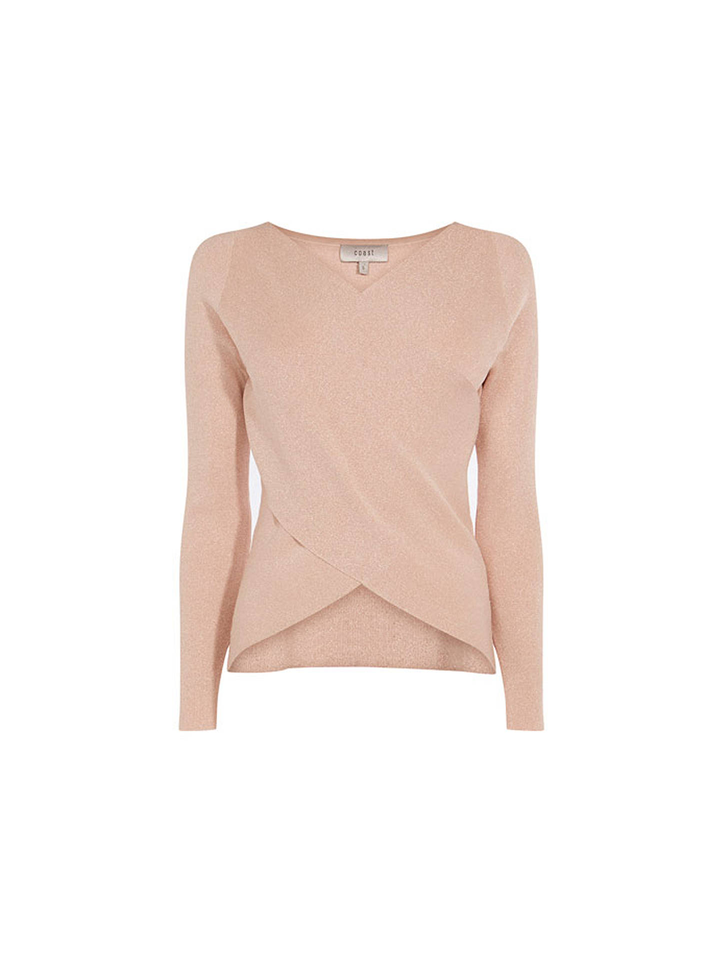 BuyCoast Tiffany Metallic Knit Top, Pink, XS Online at johnlewis.com