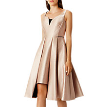 Buy Coast Orella Full Asymmetric Hem Midi Dress, Gold Online at johnlewis.com
