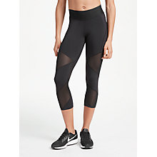 Buy Nike Fly Lux Training Crops, Black Online at johnlewis.com