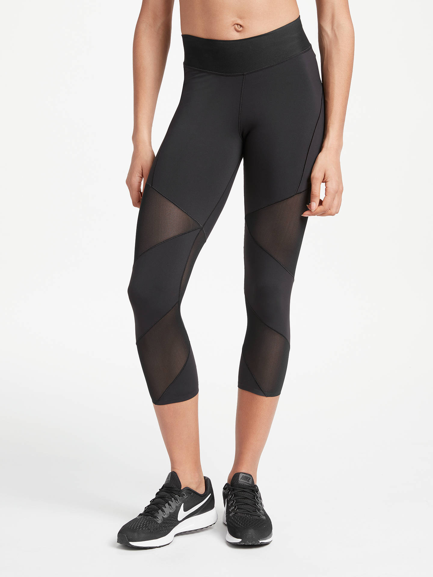 d8788c59c4dc3 Buy Nike Fly Lux Training Crops, Black, XS Online at johnlewis.com ...
