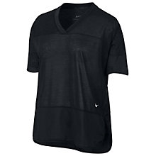 Buy Nike Breathe Training Top, Black Online at johnlewis.com