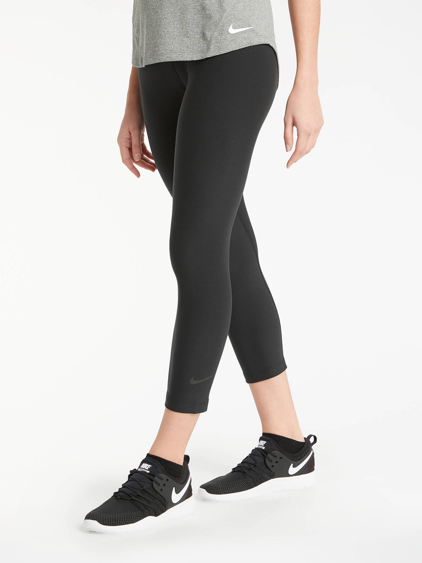 d11e7de6e9703 Buy Nike Sculpt Hyper Training Crops, Black, XS Online at johnlewis.com ...