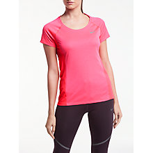 Buy Nike Dry Miler Running Top, Racer Pink/Heather Online at johnlewis.com
