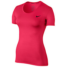 Buy Nike Pro Cool Training Top, Racer Pink/Black Online at johnlewis.com