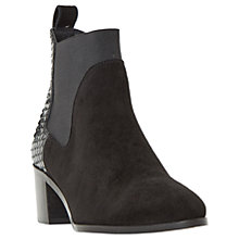 Buy Dune Oprentice Block Heeled Ankle Boots, Black Online at johnlewis.com