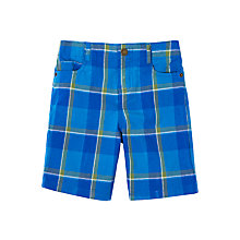 Buy John Lewis Boys' Check Chino Shorts, Blue Online at johnlewis.com