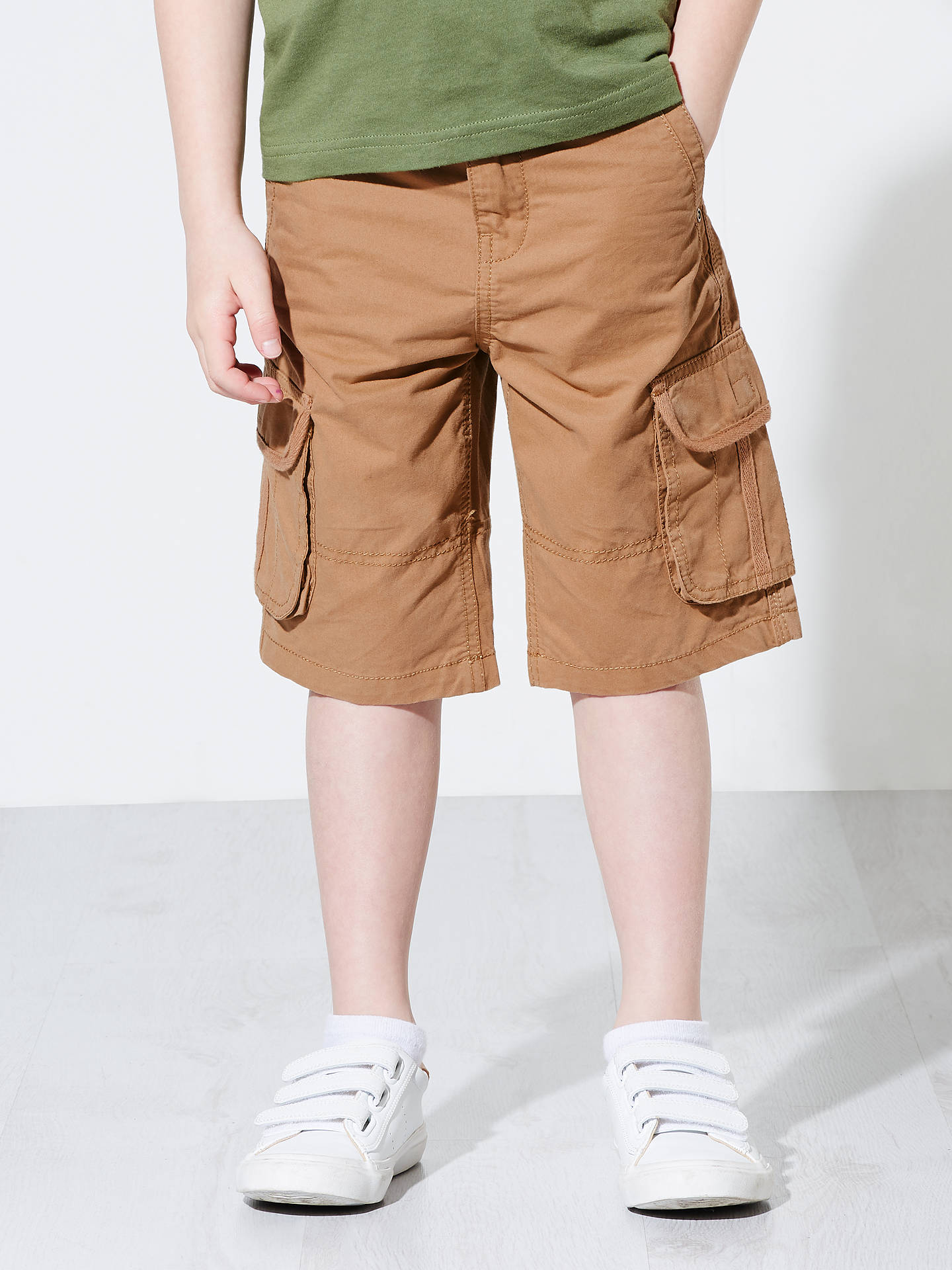 d152ac2f9 ... Buy John Lewis & Partners Boys' Cargo Shorts, Beige, 2 years Online at  ...