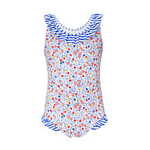 Buy John Lewis Girls' Micro Floral Swimsuit, Multi Online at johnlewis.com