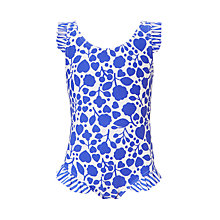 Buy John Lewis Girls' Mono Flower Swimsuit, Multi Online at johnlewis.com
