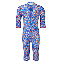 Buy John Lewis Girls' Flower SunPro All-in-One Swimsuit, Multi Online at johnlewis.com