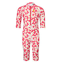 Buy John Lewis Girls' Daisy Print Swimsuit, Multi Online at johnlewis.com