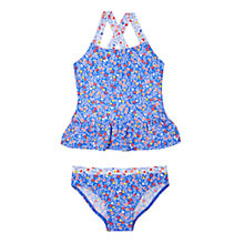 Buy John Lewis Girls' Micro Floral Tankini, Multi Online at johnlewis.com