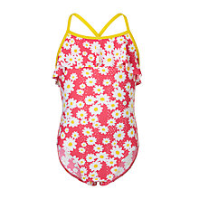 Buy John Lewis Girls' Daisy Ruffle Swimsuit, Multi Online at johnlewis.com
