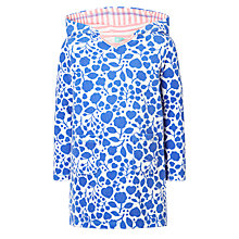 Buy John Lewis Girls' Floral Design Towel Dress, Blue/White Online at johnlewis.com