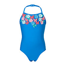 Buy John Lewis Girls' Butterfly Halter Swimsuit, Blue Online at johnlewis.com