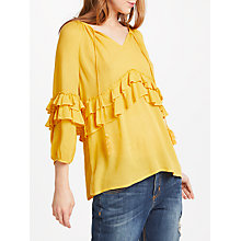 Buy AND/OR Billie Jean Blouse, Ochre Online at johnlewis.com