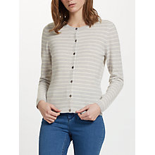 Buy John Lewis Stripe Cashmere Crew Neck Cardigan Online at johnlewis.com