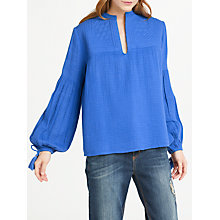 Buy AND/OR Kitty Embroidered Blouse, Uhla Blue Online at johnlewis.com