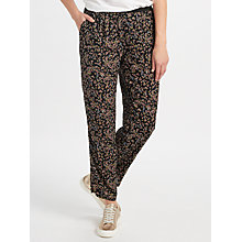 Buy Collection WEEKEND by John Lewis Ditsy Floral Print Trousers, Black/Multi Online at johnlewis.com