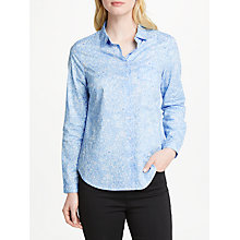 Buy John Lewis Martha Botanical Floral Shirt, Pale Blue Online at johnlewis.com