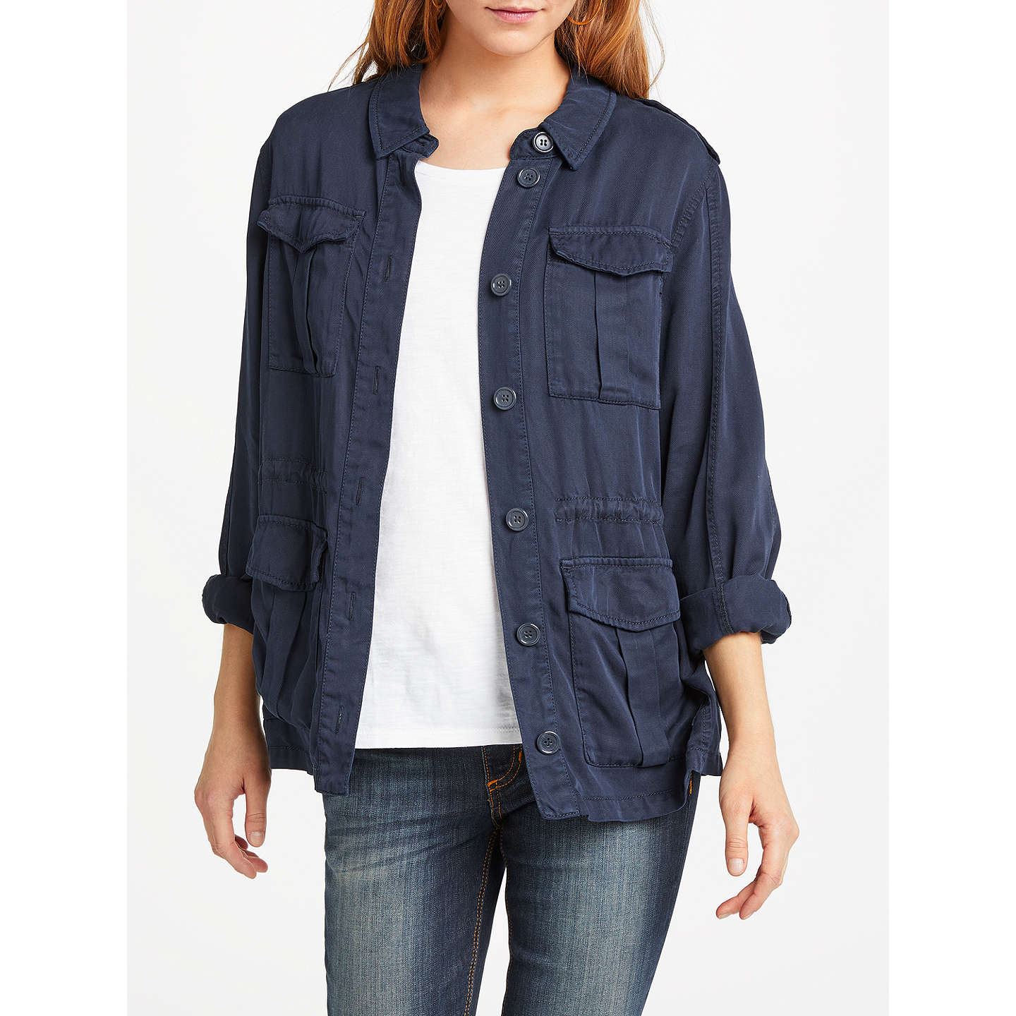And/Or Utility Jacket, Navy, Navy by And/Or
