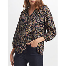 Buy Collection WEEKEND by John Lewis Ditsy Floral Print Top, Black/Multi Online at johnlewis.com