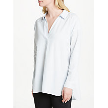 Buy John Lewis Needle Stripe Tunic Shirt, White/Blue Online at johnlewis.com