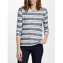 Buy John Lewis Scribble Stripe Three-Quarter Sleeve Top Online at johnlewis.com