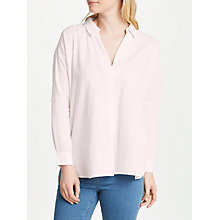 Buy John Lewis Dobby Check Tunic Shirt, Pale Pink Online at johnlewis.com