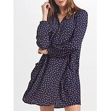 Buy Collection WEEKEND by John Lewis Dot Print Shirt Dress, Navy Online at johnlewis.com