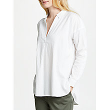 Buy John Lewis Textured Stripe Tunic Shirt, White Online at johnlewis.com